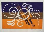 RUBEM DARIO. Sem título, 73/74, medindo 18 x 26 cm sem moldura. Serigrafia, assinada e numerada no CID.