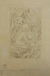 """Assinatura Ilegível. """"Menina com Animal"""", litogravura, medindo 27 x 19 cm sem moldura. Assinado e datado 1939 no CID."""