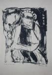 """MATHIAS. """"Figura"""", gravura em metal, P.A. , medindo 50 x 33 cm. Assinado na chapa a próprio punho e datado 1963 no CID, sem moldura."""