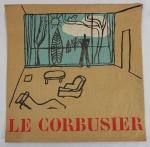 "Poster ""Le Corbusier"", medindo 40 x 40 cm, sem moldura."
