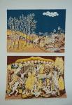 """TOBIAS. """"Paraíso e Inferno"""", 141/200 - III 41/50, assinado e datado 1974 no CID, medindo 66 x 48 cm, sem moldura."""