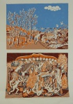 """TOBIAS. """"Paraíso e Inferno"""", 36/200 - I 36/50, assinado e datado 1974, medindo 66 x 48 cm, sem moldura."""