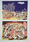 """TOBIAS. """"Paraíso e Inferno"""", 186/200 - IV 36/50, assinado e datado 1974, medindo 66 x 48 cm, sem moldura."""