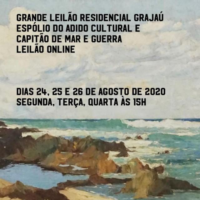 Grande Leilão Residencial Grajaú - Espólio do Adido Cultural e capitão de Mar e Guerra